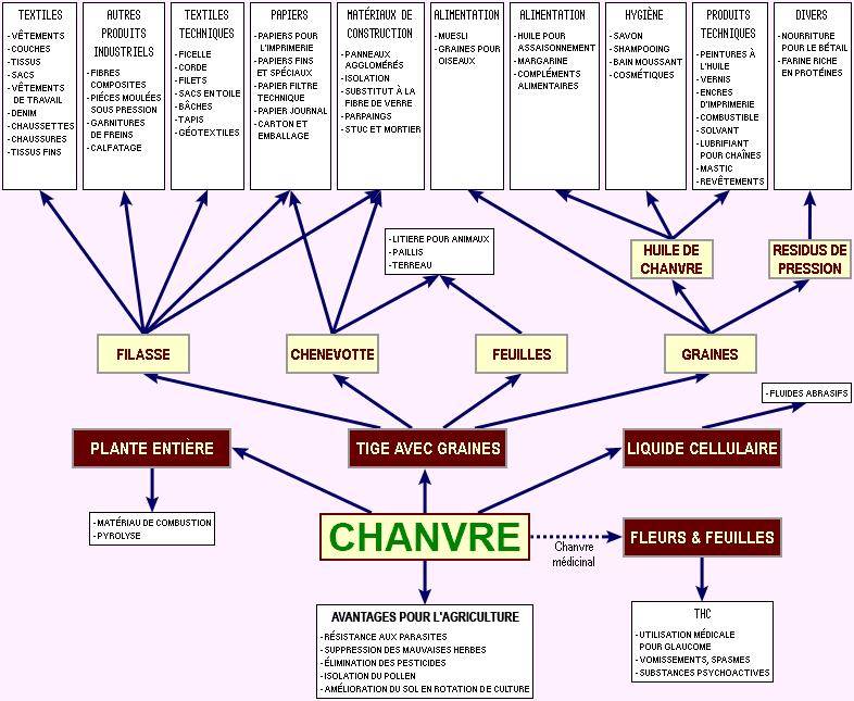 Les 1001 usages industriels et agricoles du chanvre bloc for Sous produit du chanvre