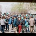 5 mai 2001 : Rassemblement au parc Émilie-Gamelin