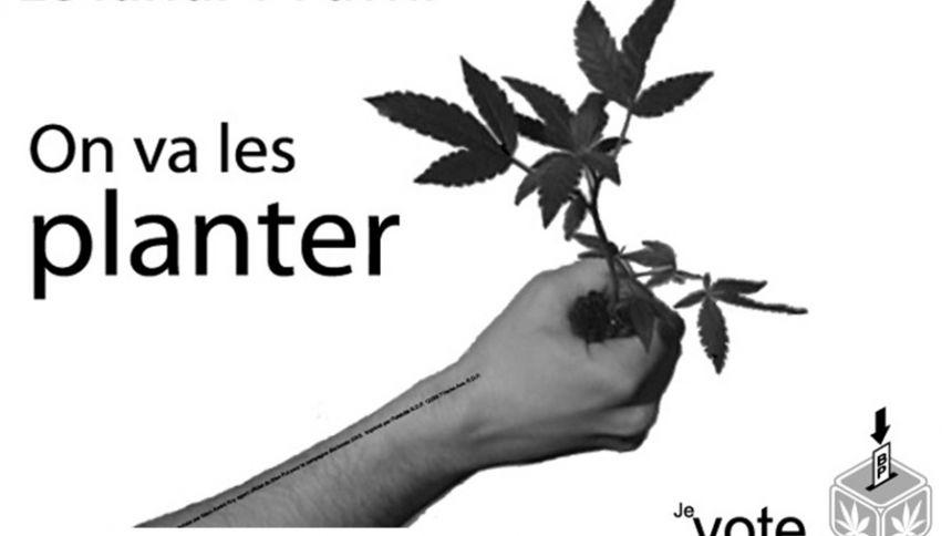 Élections 2003 : affiche « On va les planter »