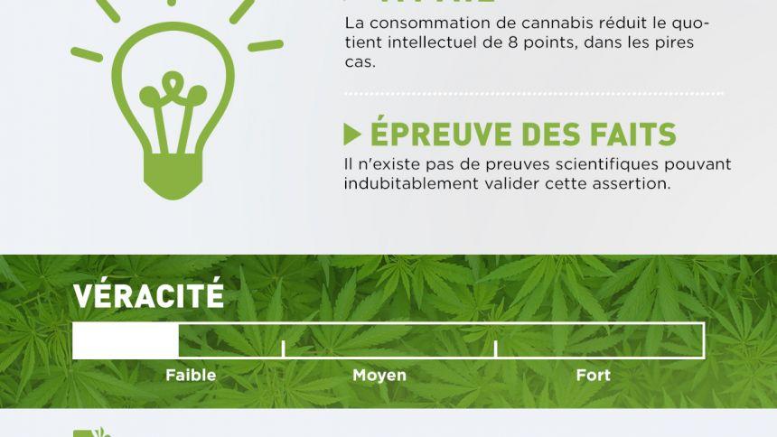 La consommation de cannabis N'AFFECTE PAS le QI