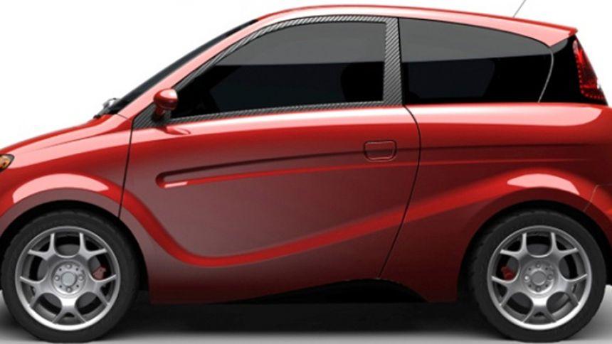 Prototype de voiture Kestrel avec carrosserie de chanvre