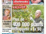 Page couverture du Journal de Sherbrooke, 1er septembre 2006