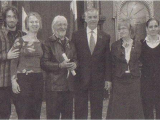 Photo de ma famille lors de notre passage au Salon rouge de l'Assemblée nationale